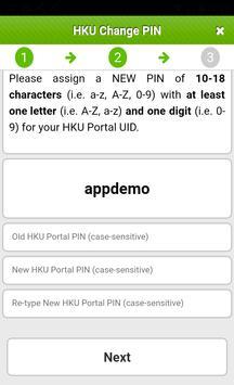 Change HKU Portal PIN apk screenshot