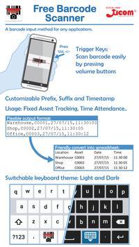 Ucom Free Barcode Scanner poster