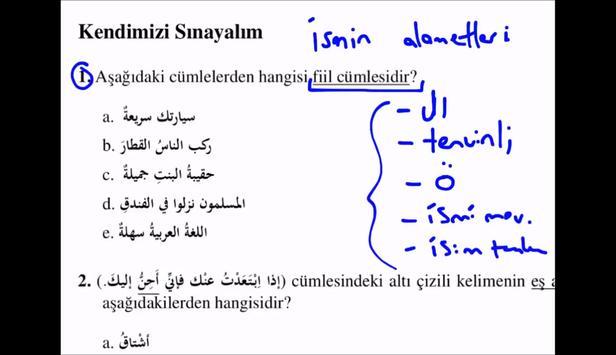 İlahiyat arapca her gün 1 soru poster