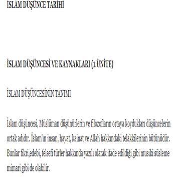 ilahiyat islam dusunce tarihi poster