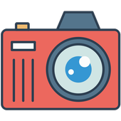 Cartoon Sketch Photo Camera icon
