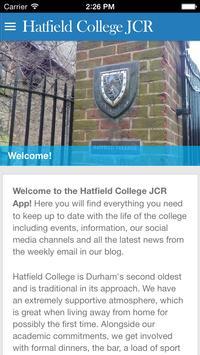 Hatfield College JCR poster