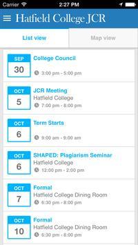 Hatfield College JCR screenshot 2