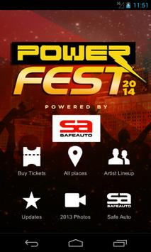 Powerfest2014 Pwrd by SafeAuto poster