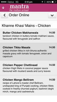 Mantra Indian Restaurant screenshot 1