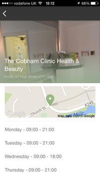 The Cobham Clinic apk screenshot