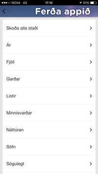 Ferða appið screenshot 1
