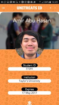 UniTreats: Student ID Anywhere poster