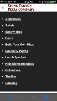 Stone Canyon Pizza - Kansas City Restaurant, Pizza apk screenshot
