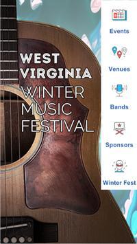 WV Winter Music Festival poster