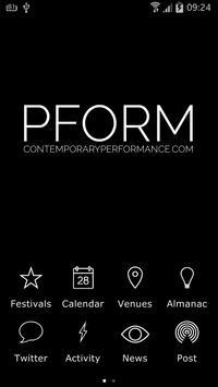 PFORM poster