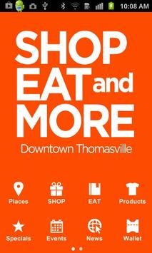 SHOP EAT and MORE poster