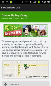 Dream BIG Day Camp apk screenshot