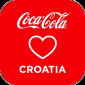 Coca-Cola loves Croatia icon