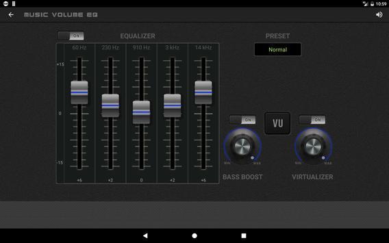 9 Schermata Musica Volume Equalizzatore Potenziatore dei bassi