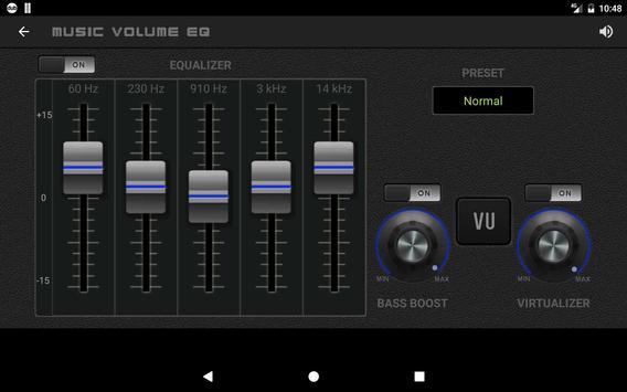 11 Schermata Musica Volume Equalizzatore Potenziatore dei bassi