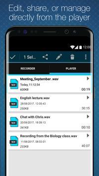 Titanium Voice Recorder with number ID imagem de tela 3