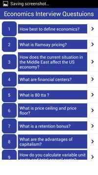 Economics Interview Questions screenshot 1