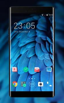 Theme for Desire 826: Amazing Blue Feather Skin poster