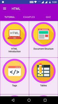 HTML TUTORIAL : GUIDE FOR  LEARNING HTML poster