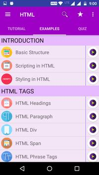 HTML TUTORIAL : GUIDE FOR  LEARNING HTML screenshot 1