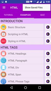 HTML TUTORIAL : GUIDE FOR  LEARNING HTML screenshot 2
