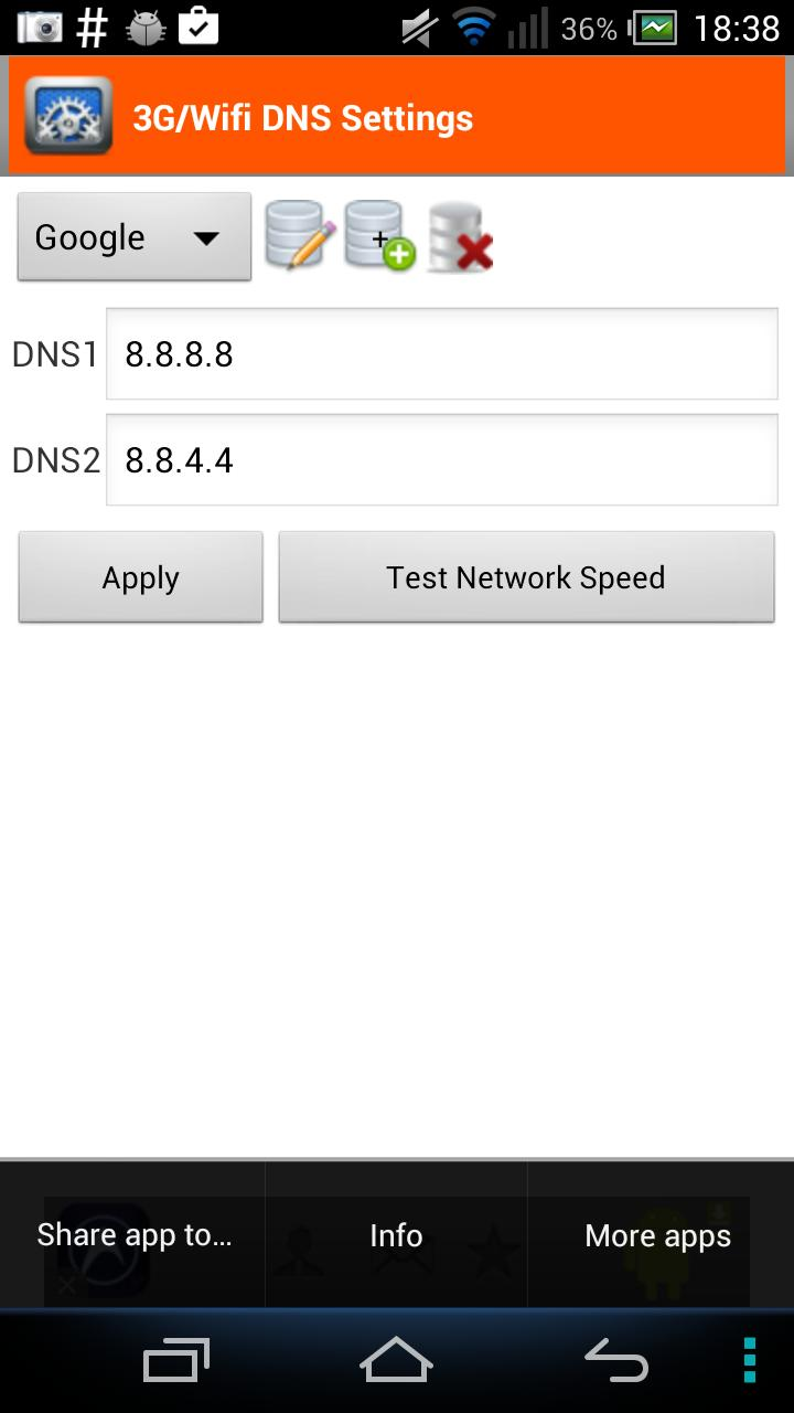 3G/4G/Wifi DNS Settings for Android - APK Download