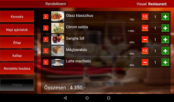 Visual Restaurant Menu demó screenshot 14