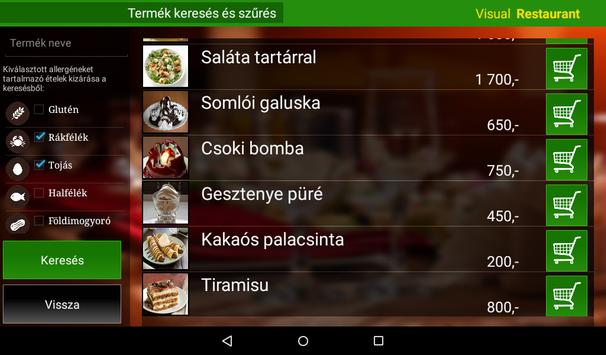 Visual Restaurant Menu demó screenshot 2