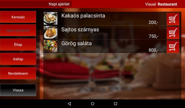 Visual Restaurant Menu demó screenshot 7