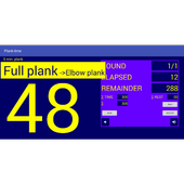 Plank time icon