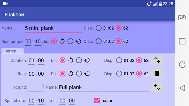 Plank time screenshot 2