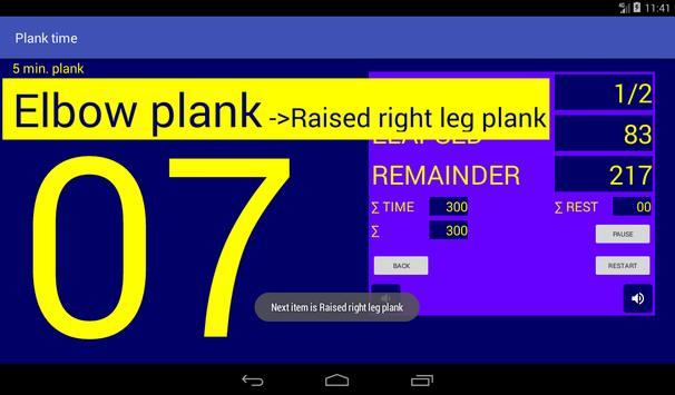 Plank time apk screenshot