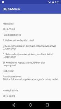 Bajai Napi Menü screenshot 2