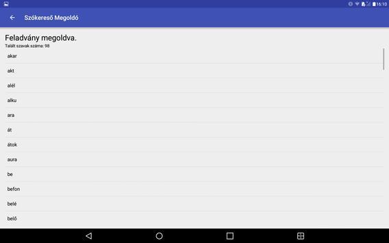 Szókereső Megoldó apk screenshot
