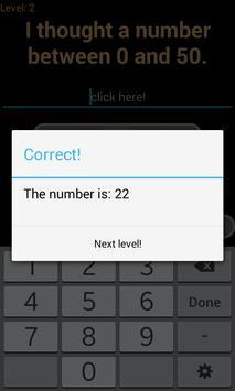Guess Number apk screenshot