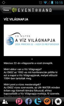 Víz Világnapja EVENT@HAND apk screenshot
