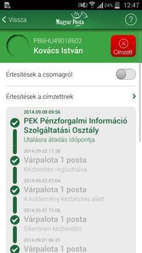 Hungarian Post Application apk screenshot