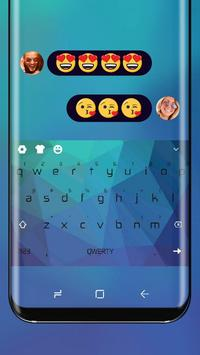 Classic Blue Keyboard Theme for Huawei Mate poster