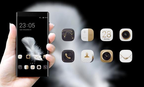 Theme for Huawei Y6 (2017): Black & Gold screenshot 3