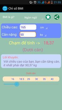 Your BMI apk screenshot
