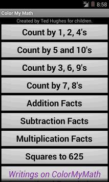 Color My Math Facts apk screenshot