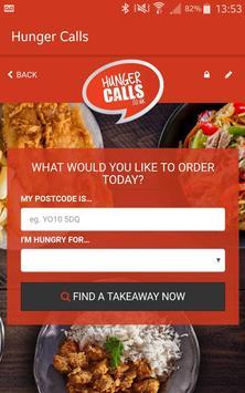 HungerCalls apk screenshot