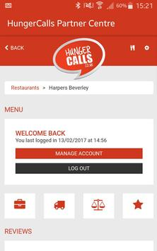 HungerCalls Partner Centre apk screenshot