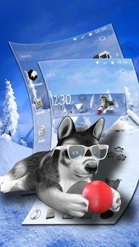 3D Cute Husky Theme apk screenshot