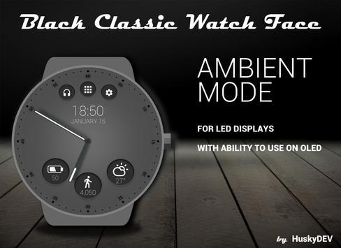 Black Classic Watch Face screenshot 4