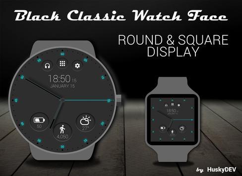 Black Classic Watch Face screenshot 5