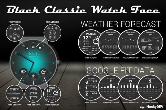 Black Classic Watch Face poster