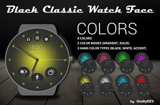 Black Classic Watch Face screenshot 3