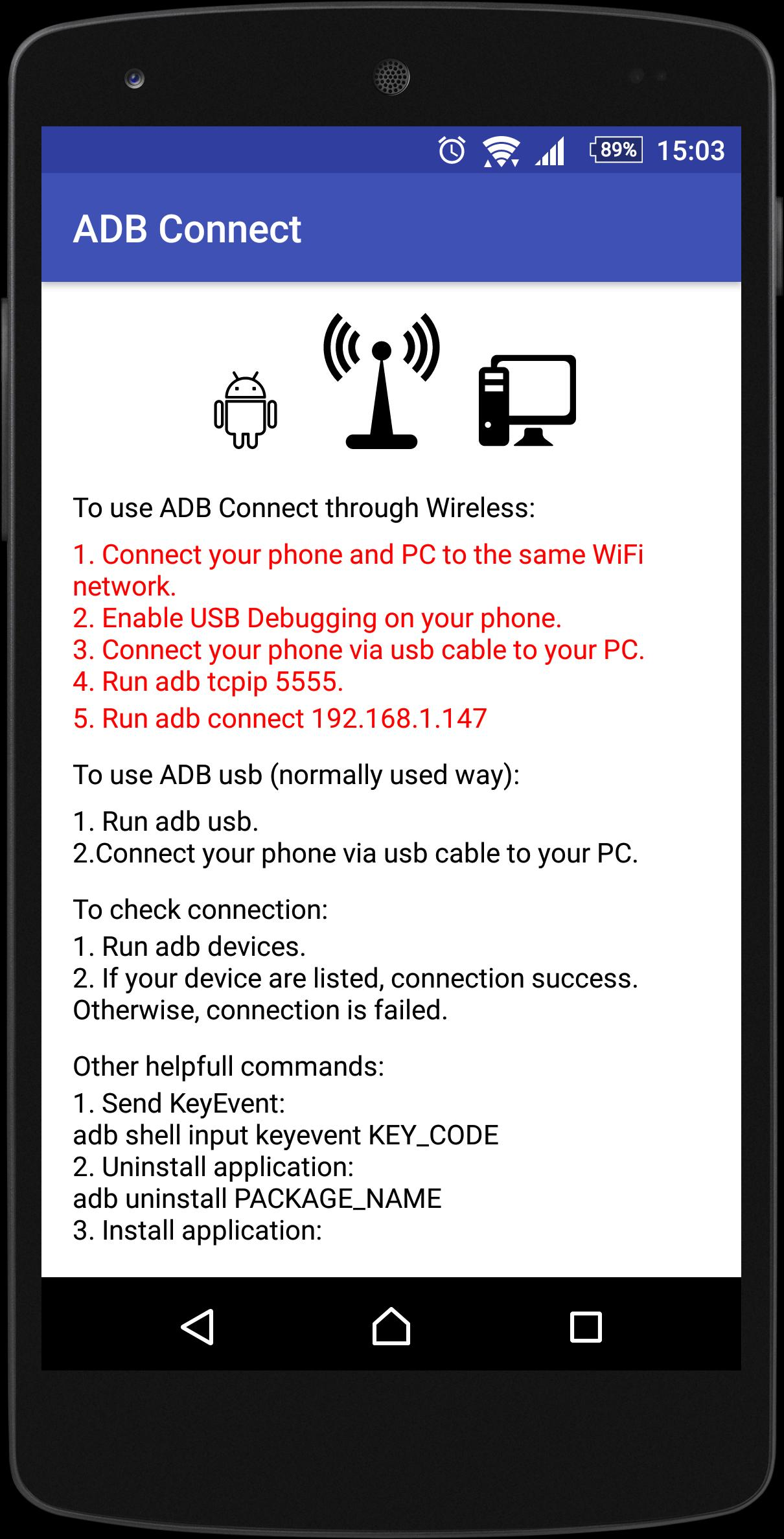 ADB Connect (No Root) cho Android - Tải về APK